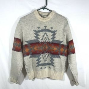 Vintage Pendleton Sweater Chief Joseph Wool Mens L
